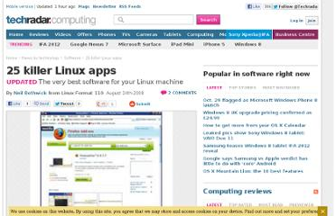 http://www.techradar.com/news/operating-systems/software/applications/computing/pc/25-killer-linux-apps-454327