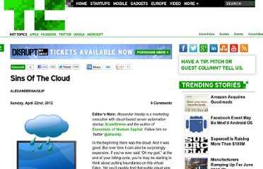 http://techcrunch.com/2012/04/22/sins-of-the-cloud/