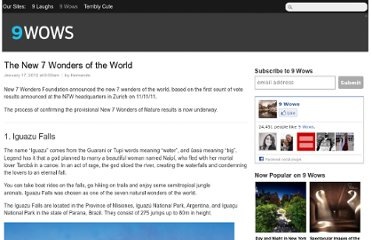 http://9wows.com/the-new-7-wonders-of-the-world/
