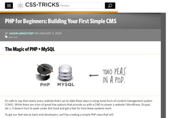 http://css-tricks.com/php-for-beginners-building-your-first-simple-cms/