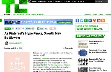 http://techcrunch.com/2012/04/22/as-pinterests-hype-peaks-there-are-external-signs-that-its-growth-is-slowing/