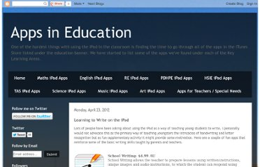 http://appsineducation.blogspot.com/2012/04/learning-to-write-on-ipad.html