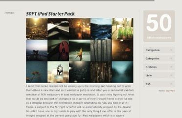 http://fiftyfootshadows.net/2010/04/02/50ft-ipad-starter-pack/