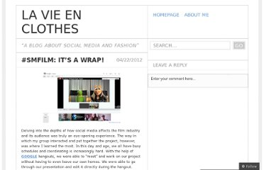http://lavieenclotheslydia.wordpress.com/2012/04/22/smfilm-its-a-wrap/