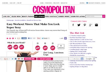 http://www.cosmopolitan.com/advice/health/easy-at-home-exercises#slide-1