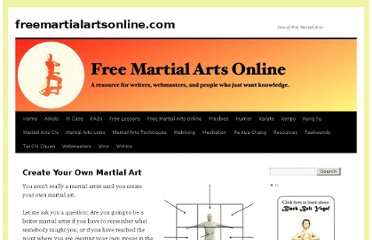 http://freemartialartsonline.com/resources/create-your-own-martial-art/