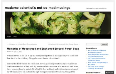 http://madamescientist.wordpress.com/2012/04/22/memories-of-moosewood-and-enchanted-broccoli-forest-soup/