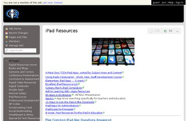 http://qcsd-resources.wikispaces.com/iPad+Resources