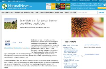 http://www.naturalnews.com/035652_pesticides_honey_bees_ban.html