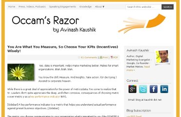 http://www.kaushik.net/avinash/measure-choose-smarter-kpis-incentives/