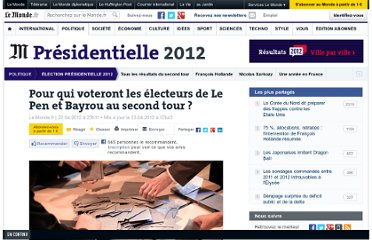 http://www.lemonde.fr/election-presidentielle-2012/article/2012/04/22/le-pen-bayrou-quels-reports-de-voix-au-second-tour_1689530_1471069.html#xtor=EPR-32280229-%5bNL_Titresdujour%5d-20120423-%5btitres%5d