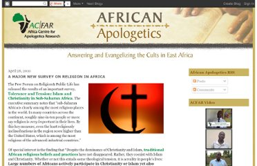 http://africacfar.blogspot.com/2010/04/major-new-survey-on-religion-in-africa.html