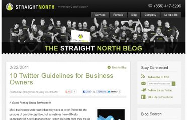 http://blog.straightnorth.com/10-twitter-guidelines-for-business-owners/