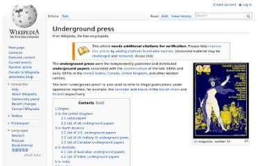 http://en.wikipedia.org/wiki/Underground_press