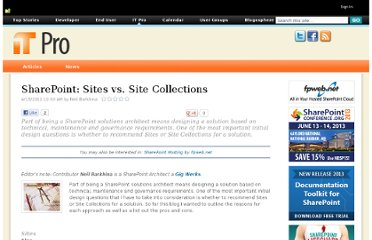 https://www.nothingbutsharepoint.com/sites/itpro/Pages/SharePoint-Sites-vs-Site-Collections.aspx