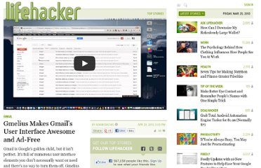 http://lifehacker.com/5904466/gmelius-dramatically-improves-gmails-interface-and-strips-away-the-ads-in-just-a-few-clicks