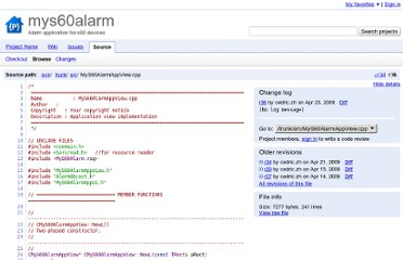 http://code.google.com/p/mys60alarm/source/browse/trunk/src/MyS60AlarmAppView.cpp?r=36