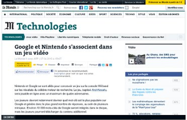 http://www.lemonde.fr/technologies/article/2010/04/07/google-et-nintendo-s-associent-dans-un-jeu-video_1330161_651865.html