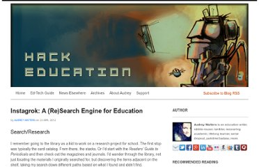 http://www.hackeducation.com/2012/04/23/instagrok-research-search-engine-for-education/