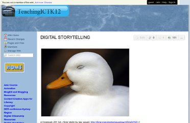 http://teachingictk12.wikispaces.com/DIGITAL+STORYTELLING