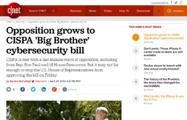 http://news.cnet.com/8301-31921_3-57419540-281/opposition-grows-to-cispa-big-brother-cybersecurity-bill/