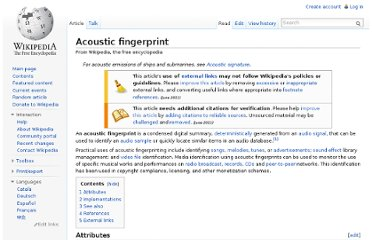 http://en.wikipedia.org/wiki/Acoustic_fingerprint