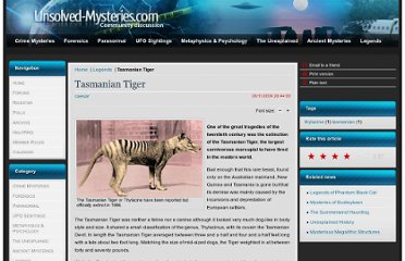 http://www.unsolved-mysteries.com/urban_legends/tasmanian_tiger.html