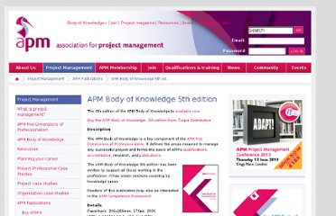 http://www.apm.org.uk/BodyOfKnowledge