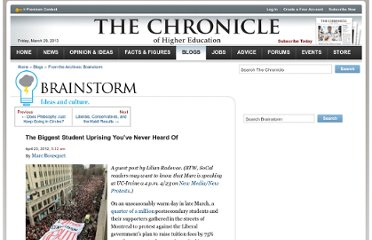 http://chronicle.com/blogs/brainstorm/the-biggest-student-uprising-youve-never-heard-of/46100