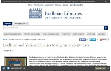 http://www.bodleian.ox.ac.uk/news/bodleian-and-the-vatican-libraries