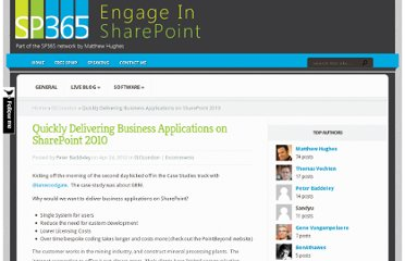 http://engageinsharepoint.co.uk/2012/04/quickly-delivering-business-applications-on-sharepoint-2010/