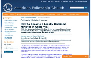 http://www.amfellow.org/california-minister-license/