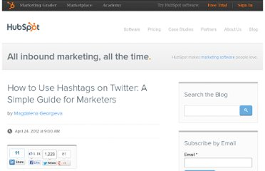 http://blog.hubspot.com/blog/tabid/6307/bid/32497/How-to-Use-Hashtags-on-Twitter-A-Simple-Guide-for-Marketers.aspx
