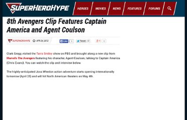 http://www.superherohype.com/news/articles/170355-8th-avengers-clip-features-captain-america-and-agent-coulson