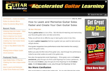 http://guitaraccelerator.com/blog/play-guitar/how-to-learn-and-memorize-guitar-solos-faster-and-create-your-own-guitar-solos/