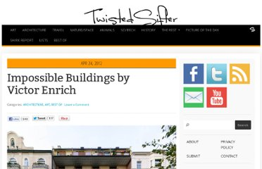 http://twistedsifter.com/2012/04/impossible-buildings-by-victor-enrich/