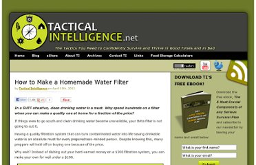 http://www.tacticalintelligence.net/blog/how-to-make-a-homemade-water-filter.htm