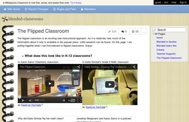 http://blended-classrooms.wikispaces.com/The+Flipped+Classroom