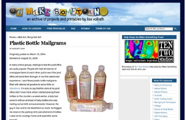 http://gomakesomething.com/ht/mailart/plastic-bottle/