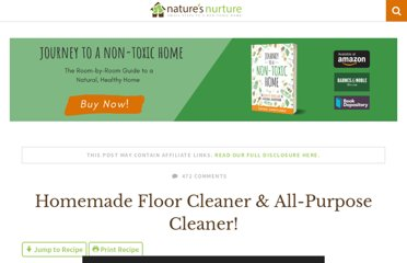 http://naturesnurtureblog.com/2012/04/19/homemade-floor-all-purpose-cleaner/