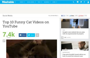 http://mashable.com/2010/04/07/funny-cat-videos-youtube/