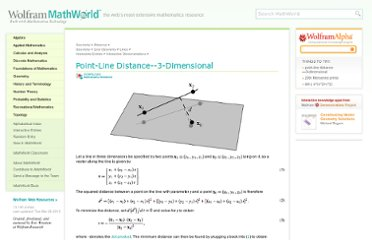 http://mathworld.wolfram.com/Point-LineDistance3-Dimensional.html
