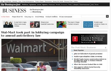 http://www.washingtonpost.com/business/economy/wal-mart-took-part-in-lobbying-campaign-to-amend-anti-bribery-law/2012/04/24/gIQAyZcdfT_story.html