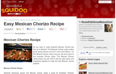 http://www.squidoo.com/easy-mexican-chorizo-recipe