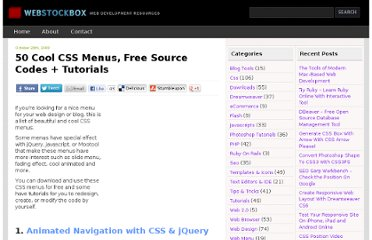 http://www.webstockbox.com/css/50-cool-css-menus-free-source-codes-tutorials/