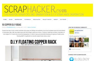 http://scraphacker.com/copper-diy-ideas/