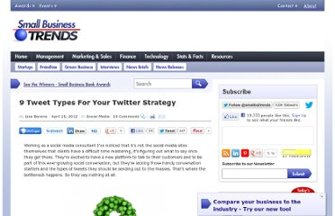 http://smallbiztrends.com/2012/04/9-tweet-types.html