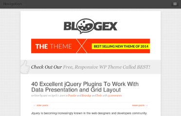 http://aext.net/2010/04/excellent-jquery-plugins-resources-for-data-presentation-and-grid-layout/