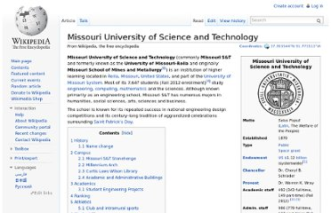 http://en.wikipedia.org/wiki/Missouri_University_of_Science_and_Technology