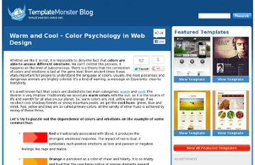 http://blog.templatemonster.com/2012/04/25/warm-cool-color-psychology-web-design/